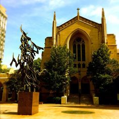 Marsh Chapel, home to spiritual life on campus accommodates a variety of religious services. The statue out front is in memory of BU alum Dr. Boston University, King Jr, Spiritual Life, Martin Luther, Virtual Tour, Barcelona Cathedral, Tours, Statue, Adventure