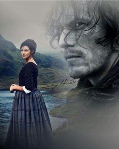 Jamie And Claire, Diana Gabaldon, Jamie Fraser, Outlander Series, Sam Heughan, Artwork, Movie Posters, Movies, Instagram