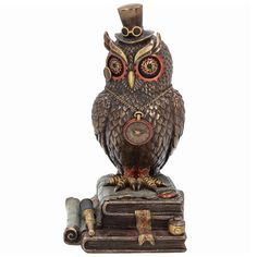 Buy Time Wise Owl Model from our gift range at English Heritage. English Heritage, New Inventions, Wise Owl, Fantasy World, Steampunk Fashion, Victorian Era, Statue, Steam Punk, Model