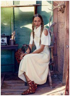 Sasha Pivovarova Vogue, February 2014 Photo Mikael Jansson