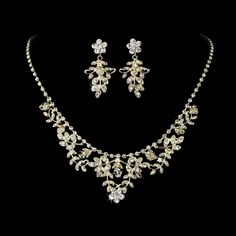 Gold Necklace Earring Set 7207 Gold