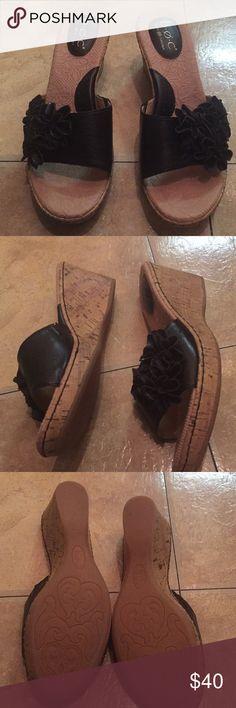 Born Concept shoes black with flower size 9 Born Concept shoes in black size 9, new with box b.o.c. Shoes