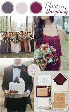 Fall Wedding Colors: Plum and Burgundy