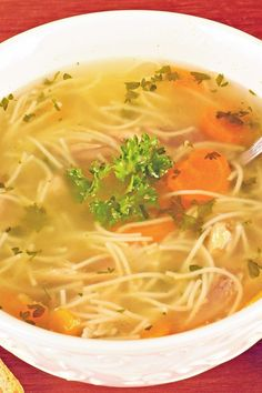 Quick Chicken Noodle Soup (Weight Watchers)