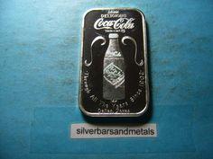 COCA COLA COKE DALLAS TEXAS 75th ANNIVERSARY 999 SILVER RARE SHARP Silver Investing, Dallas Texas, Silver Bars, Coke, Coca Cola, Anniversary, Cola