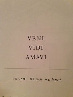 "awesome Wedding vow idea - ""We came. We saw. We loved."" {Courtesy of..."