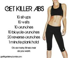 #fitness killer abs!