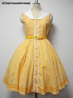 Anothe delightful retro-look dress. This time in gingham!