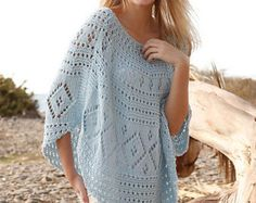 Crochet jacket with lace pattern in cotton for by BeautifulSunrise