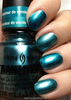 China Glaze Tranzitions in Altered Reality (changes color when you add a top coat).  Swatch from Polish Insomniac.