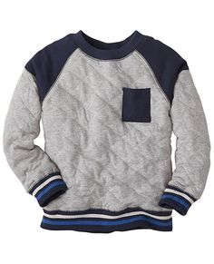 6eadfe6dac6 Quilted Sweatshirt from  HannaAndersson. Kids Boys