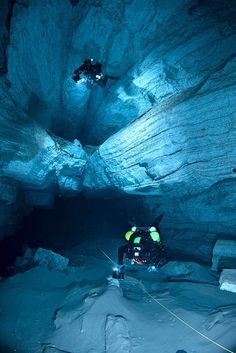 Cave Diving...INSAAAANE! I'd be wayyy too scared to do that...People are crazy ;)