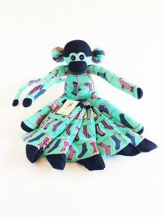 White Music Sock Monkey-Sheet Music Sock Monkey-Sock Monkey-Sheet Music-Treble Cleff-Classical Sock Monkey-Melody-Melody Sock Monkey-Black