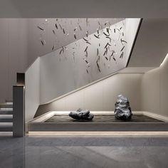 Lift in the empty space b/w stairs Interior Staircase, Modern Staircase, Staircase Design, Interior Architecture, Luxury Homes Interior, Home Interior Design, Interior And Exterior, Chinese Interior, Japanese Interior