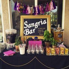 Bridal shower sangria bar. Brilliant idea!