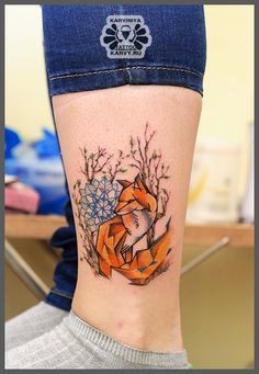 geometric fox by Karviniya.deviantart.com on @deviantART