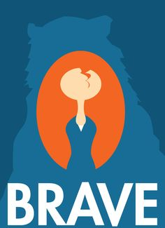 Minimalist Brave Movie Poster