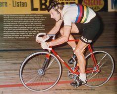 T.I. Raleigh rider Roy Schuiten world champion pursuit in 1974