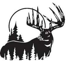 Deer hunting. Best silhouettes vectors