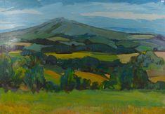 Prosecco Vineyards, North Italy x Italian Paintings, Prosecco, Pagan, Vineyard, Italy, Art, Mountain, Art Background, Italia