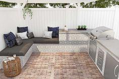 Outdoor Gallery   Floor & Decor Outdoor Tiles Floor, Outdoor Flooring, Brick Paneling, Outdoor Kitchen Design, Outdoor Kitchens, Backyard Makeover, Outdoor Furniture Sets, Outdoor Decor, Outdoor Rooms