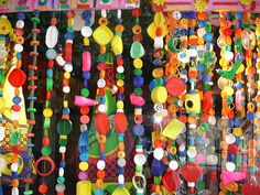 Very funky recycled plastic curtains | Strolling through the… | Flickr