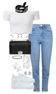 """Untitled #2310"" by theeuropeancloset ❤ liked on Polyvore featuring Topshop, adidas Originals, Chanel, Linda Farrow, Cartier and Georgini"