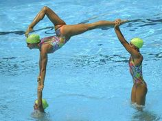 Synchro... let me see you do that while holding your breath and not touching the bottom of the pool!