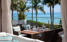 Fontainbleau Miami---Le cote restaurant...Perfect spot for Apps and cocktails (sit on upstairs patio for view of Ocean)