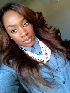 "Chocolate brown Peruvian hair      Used hair from  www.chierah-dickson.com Peruvian hair body wave 22""20""18""16""14"""