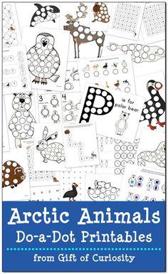 Arctic animals do-a-dot printables free printables арктика, Animal Worksheets, Animal Activities, Winter Activities, Preschool Winter, Free Worksheets, Kindergarten Worksheets, Printable Worksheets, Printable Art, Preschool Printables