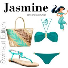 """""""Jasmine swimsuit edition"""" by bforbel on Polyvore"""
