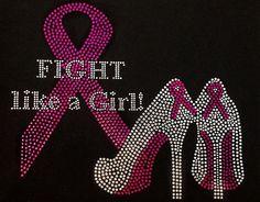 Rhinestone Pink Ribbon Cancer Awareness TShirt  by DesignsbyDaffy, $22.95