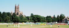 Worcester Cathedral. Worcester City Cricket Club