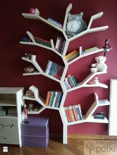 Tree Bookshelf, Library Bookshelves, Bookshelf Design, Home Decor Furniture, Furniture Makeover, Kids Bedroom, Bedroom Decor, Home Library Design, Home Daycare