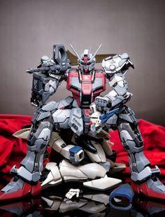 Devil Strike Gundam - Customized Build Modeled by Cyberpunk, Battle Robots, Gundam Toys, Japanese Robot, Strike Gundam, Gundam Mobile Suit, Gundam Wallpapers, Frame Arms Girl, Gundam Custom Build