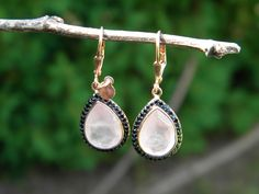 Pink stone earrings by Phillip Gavriel. Available at Diana Jewelers of Liverpool NY
