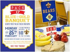 CUB-SCOUT-INVITE printable from LuluCole.com as seen on AmysPartyIdeas.com #cub #scout #invitations #bluegold #ceremony