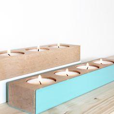 Large Candelstick en bois et acier , an°so anso.bigcartel.com