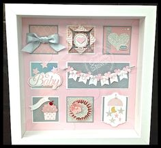 Baby Name Frame #SU by Connie Stewart - www.SimplySimpleStamping.com