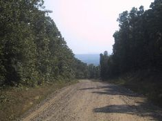 Old Military Road from top of King Mountain, White County, Arkansas