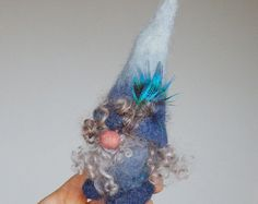 Felt gnome Winter woodland Tomten elf whimsical by HomeOfGnomes