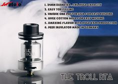 Wotofo the Troll RTA, Baby Monster for Flavor and Vapor