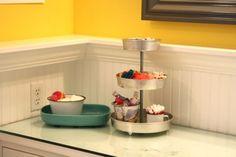 kids bathroom - I like how the molding is flipped to make a shelf