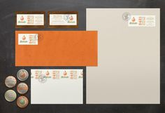 04/17/2012  Interesting concept. Labels are applied to create the letterheads and business cards. Designed for Latitudes by 3 Advertising.