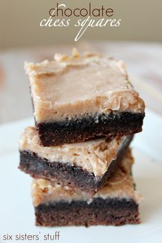 Chocolate Chess Squares from sixsistersstuff.com are a must try!