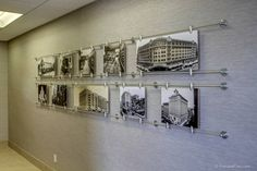 custom art display shows 100 years of companies history. Could be a nice addition.