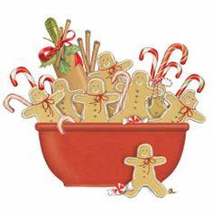 Gingerbread Men Bowl