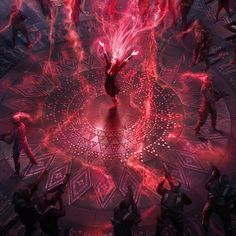 """""""Avengers: Age of Ultron"""": Concept for Scarlet's mind hex, Paolo Giandoso """"Avengers: Age of Ultron"""": Concept for Scarlet's mind hex Marvel Fan Art, Marvel Heroes, Marvel Characters, Ms Marvel, Captain Marvel, Marvel Comics, Scarlet Witch Avengers, Avengers Age, Magia Elemental"""