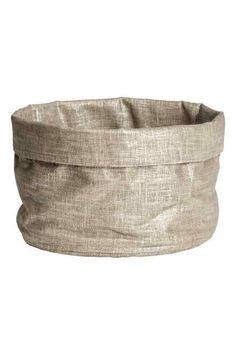 Panier en tissu métallisé